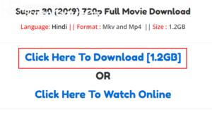 super 30 movie download